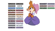 Teresa Brisby color reference chart