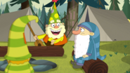 S2e10b 'whoa! grumpy's all up in getting that camping badge.'