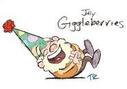 Happy in giggleberries development artwork