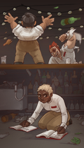 Bar fight by Jeinu