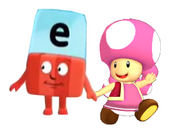 Letter e and toadette
