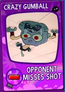 Crazy Gumball Card