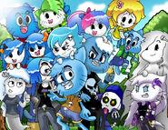 Gumballxcarrie one big happy family by wani ramirez-d5xxdra