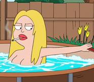Francine hottub2