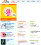 NickJr.com - The Backyardigans 2006 Nickelodeon Nick Jr. Characters Cast Home Page