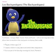 Univision Los Backyardigans Page