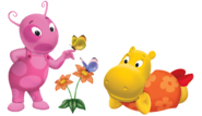 The Backyardigans Uniqua Tasha Butterflies