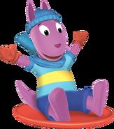 The Backyardigans Austin Sledding Nickelodeon Nick Jr. Character Image