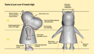 The Backyardigans Tasha 3D Reference Side and Back