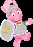 The Backyardigans Knight Uniqua Walking Nickelodeon Character Image