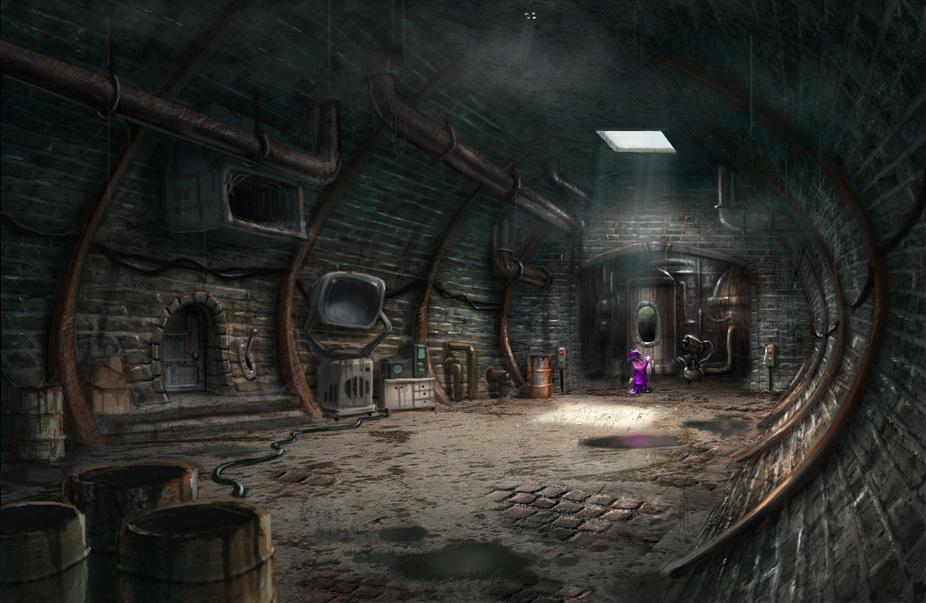 Image The Backyardigans Underground Lair Production Art