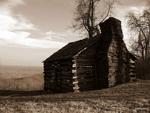 An old pioneer once lived here.