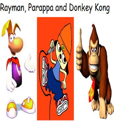 Rayman, Parappa and Donkey Kong