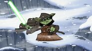 Master Yoda on Ilum