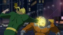 Iron Fist fights in Damage