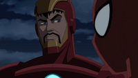 Spider-Man talks to Iron Man
