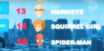 Squirrel Girl cameo in Ultimate Spiderman Sandman Returns.