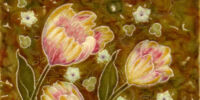 Moulded 8in Floral Tile - Mintons China Works