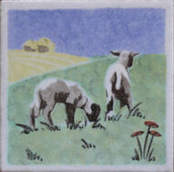 Dunsmore Tiles - Two Lambs