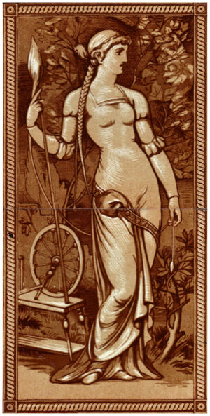 Woman with a spinning wheel
