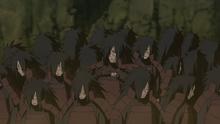 Madara creates twenty-five wood clones