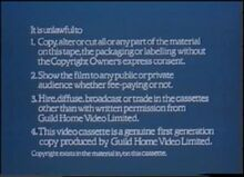 Guild Home Video (Warning 1)