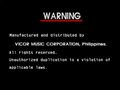 Vicor Warning Screen