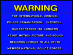 RCA-Columbia Pictures-Hoyts Video Piracy Warning (1985) Engraved logo on VHS cassette