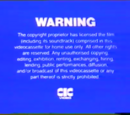 CIC Video Warning Screen