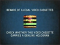 Pathe Illegal Video Cassettes (2000) Hologram Prototype