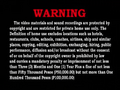 Universal Records Warning Screen 2