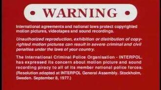 Sony's Warning Screens (2005-)
