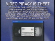 Silver Vision Piracy Warning (1993)