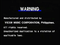 Peak Music Warning Screen