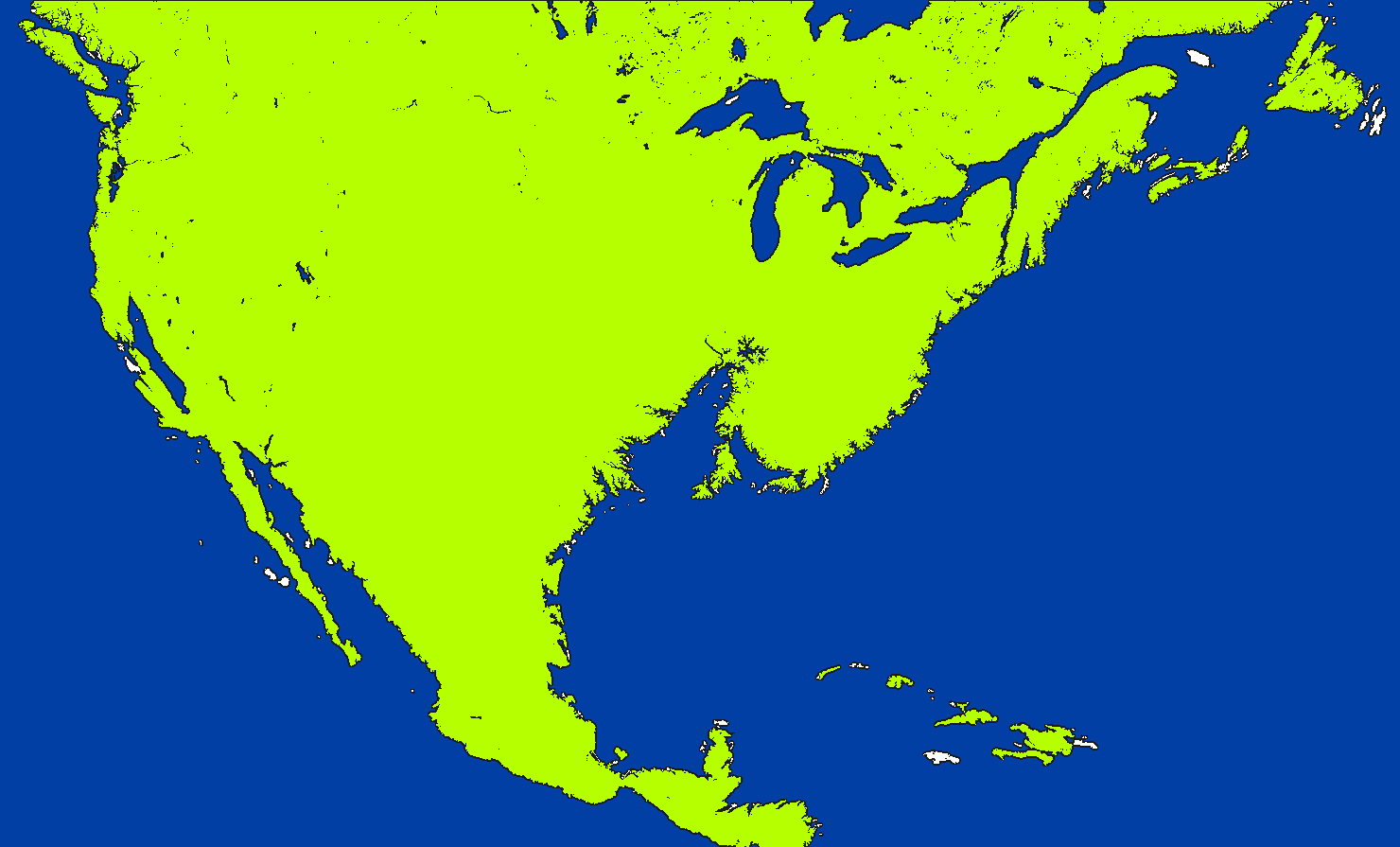 Image Coloured Blank Map Of Flooded North Americapng - North america map blank
