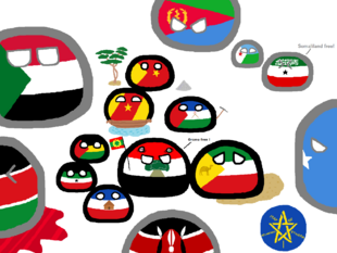 Polandball Ethiopia Map