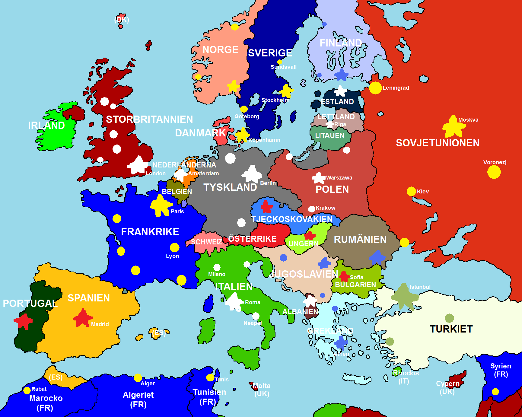 Full Map Of Europe Thefreebiedepot - Maps of europe