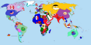 World 1914 countryball.