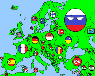Map of europe in countryballs