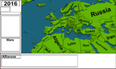 3D map of europe with names