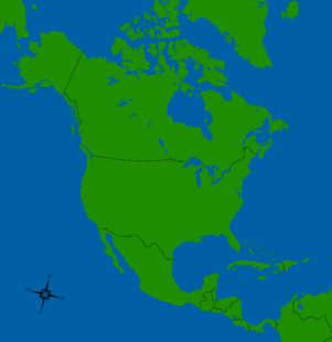 America Map WIth countries