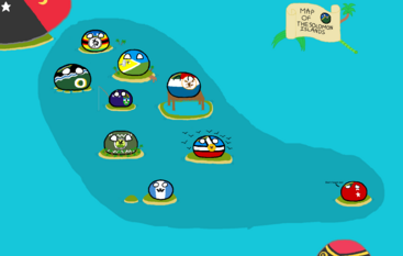 Polandball Solomon Islands Map