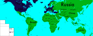 Map of the World with NATO
