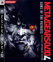 Metal Gear Solid 4 Box Art