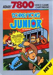 Donkey Kong Junior 7800 Box Art