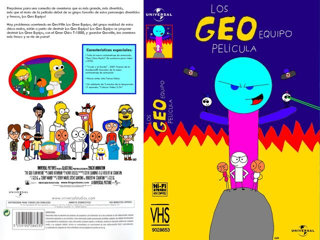 File:The Geo Team Movie Spanish VHS Front and Back.jpg