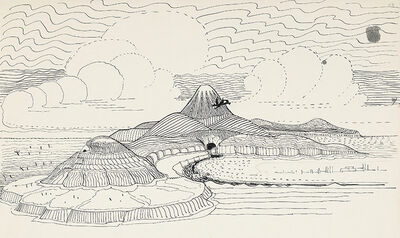 Smaug-Flies-Around-the-Lonely-Mountain