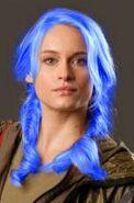 GLimmer blauw haar