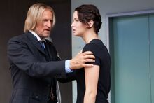 Haymitch & Katniss before arena.jpg