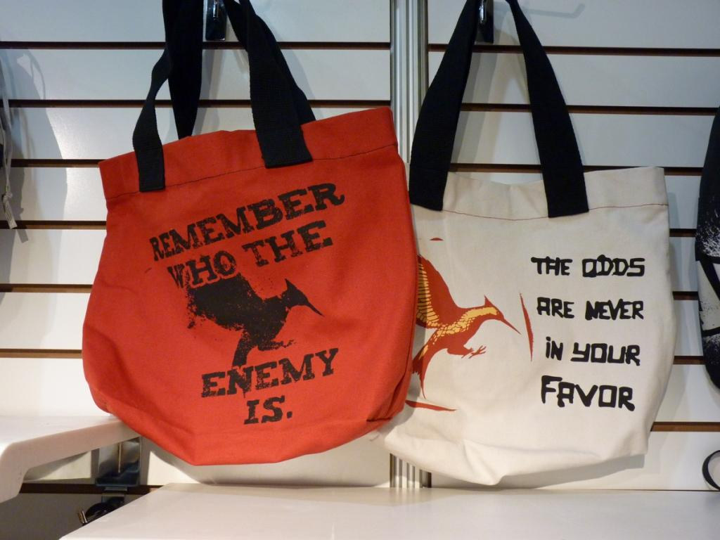 Image - Catching Fire Merchandise bags.jpg | The Hunger Games Wiki ...